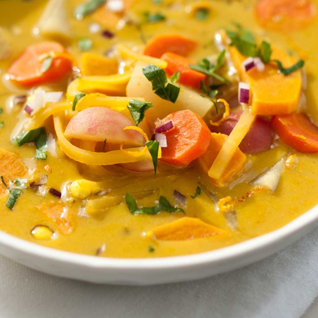 Joel Legendre's Tapioca Soup with Fall Vegetables