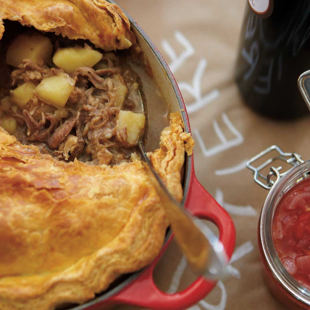 Braised Pork and Duck Confit Meat Pie
