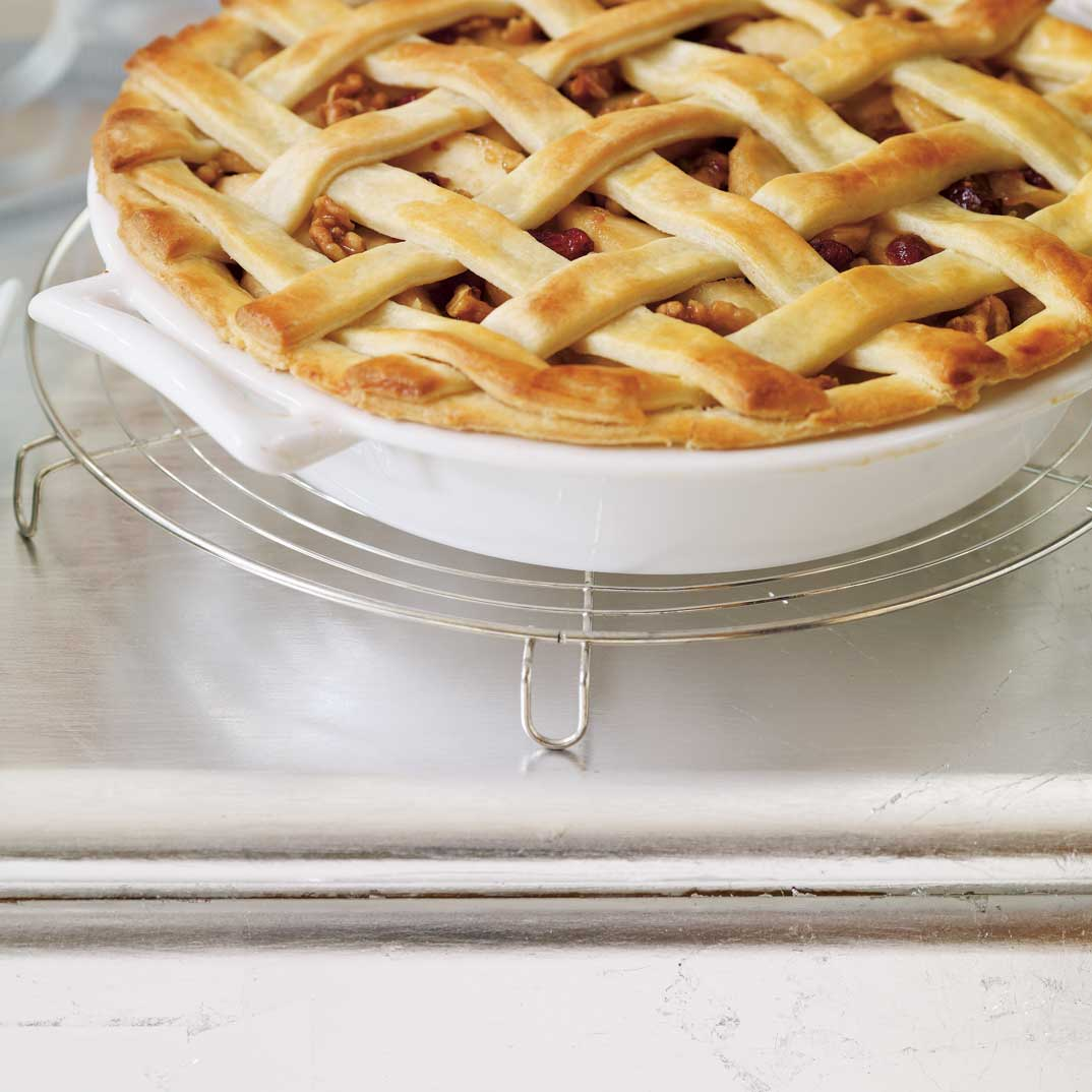 Apple, Cranberry, and Walnut Pie
