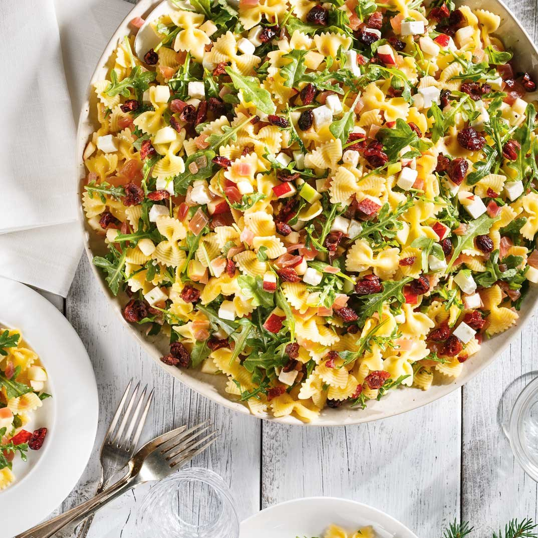 Farfalle Salad with Apple, Cranberry  and Feta