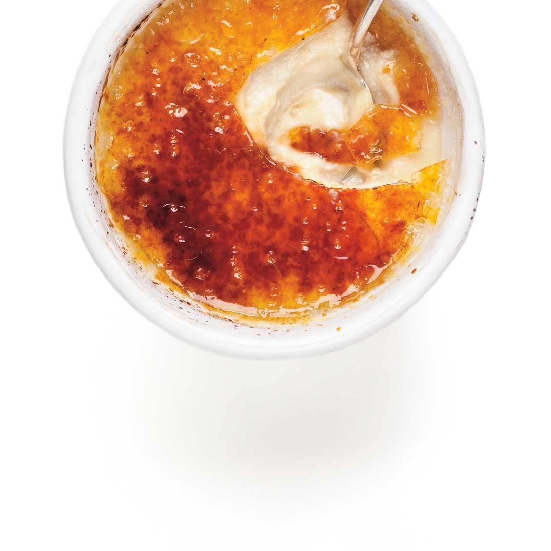 Crème brûlée sans oeufs, sans crème d'Éric Lechasseur, chef de Madonna
