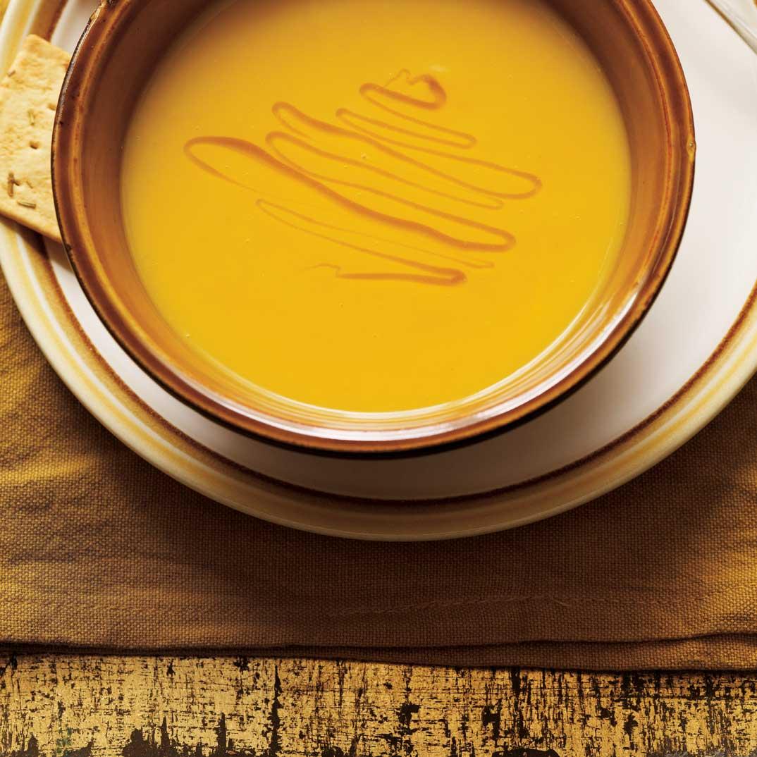 Cream of Yellow Carrot, Leek, and Saffron Soup