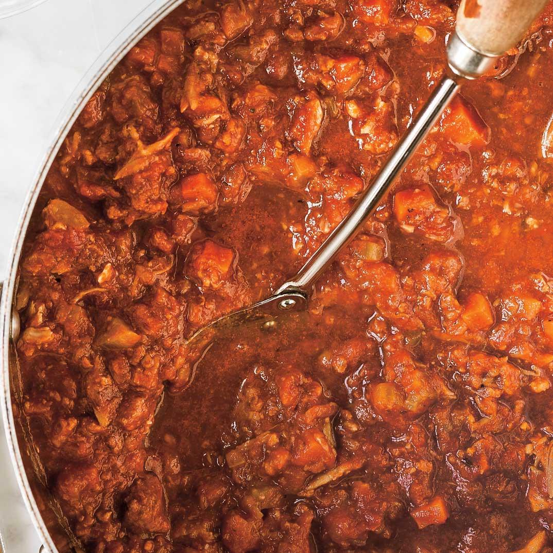 Sauce à spaghetti aux côtes levées