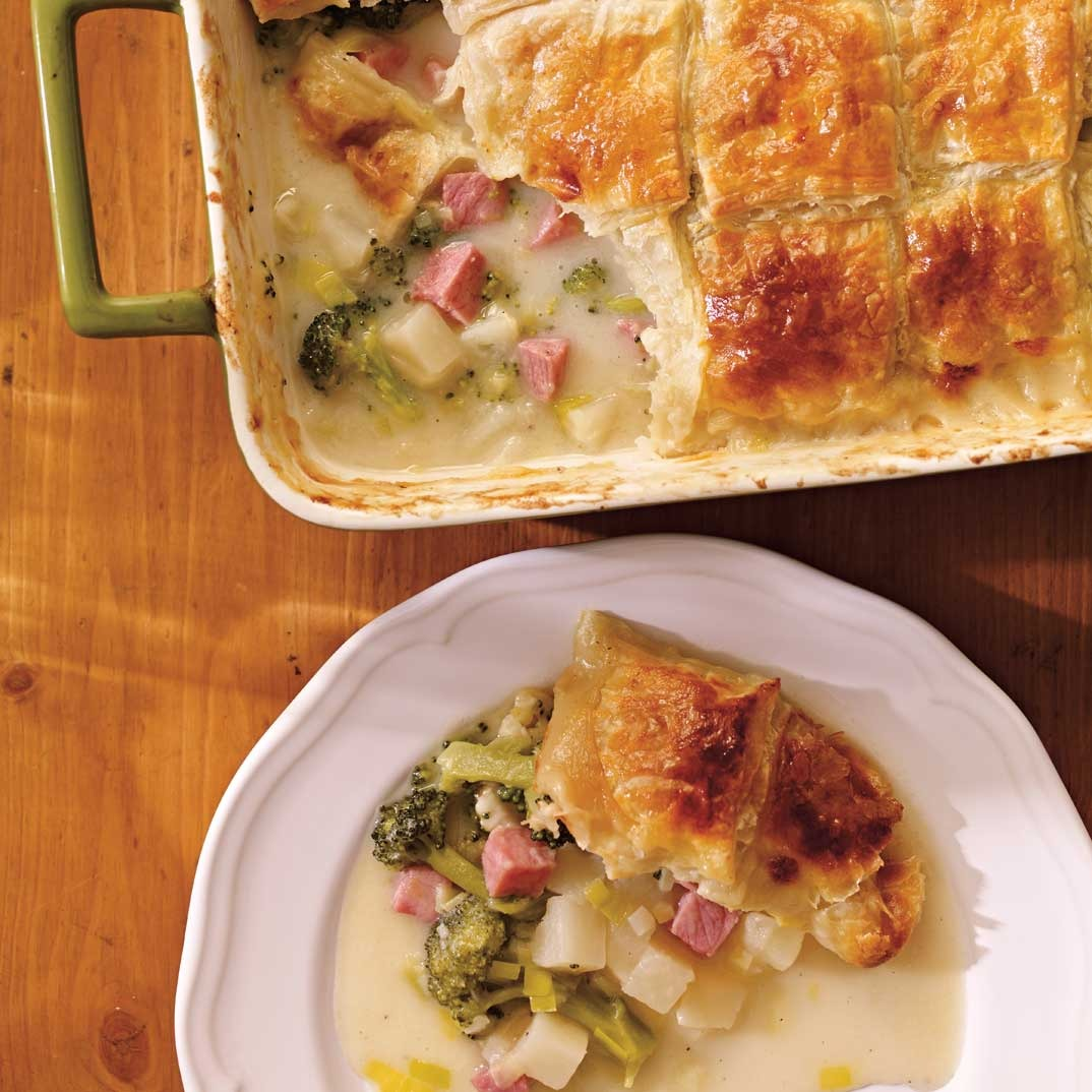 <i>Pot pie</i> au jambon