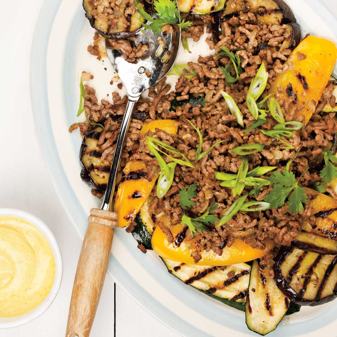 Grilled Vegetable and Lamb Salad