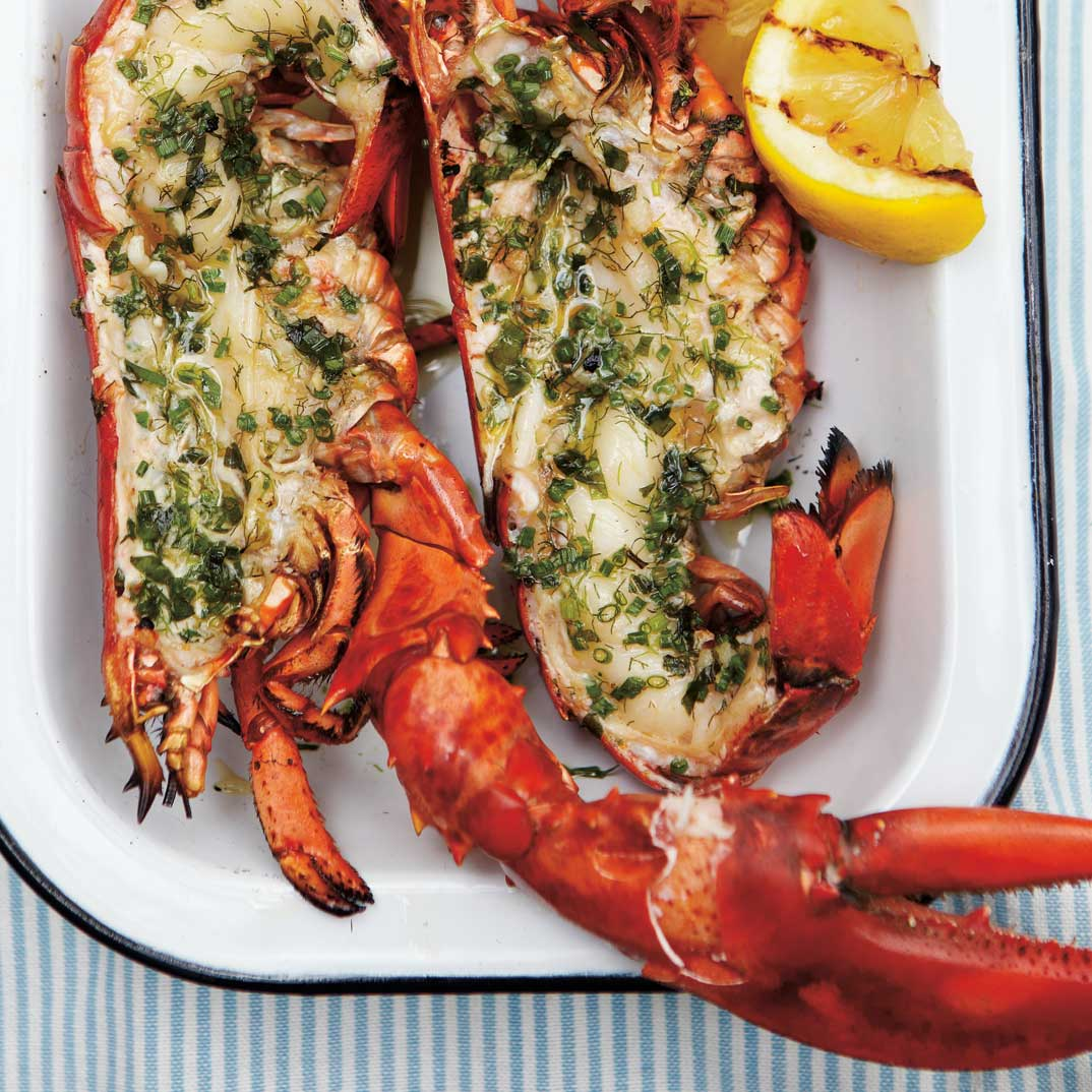 Grilled Lobster with Lemon and Herbs