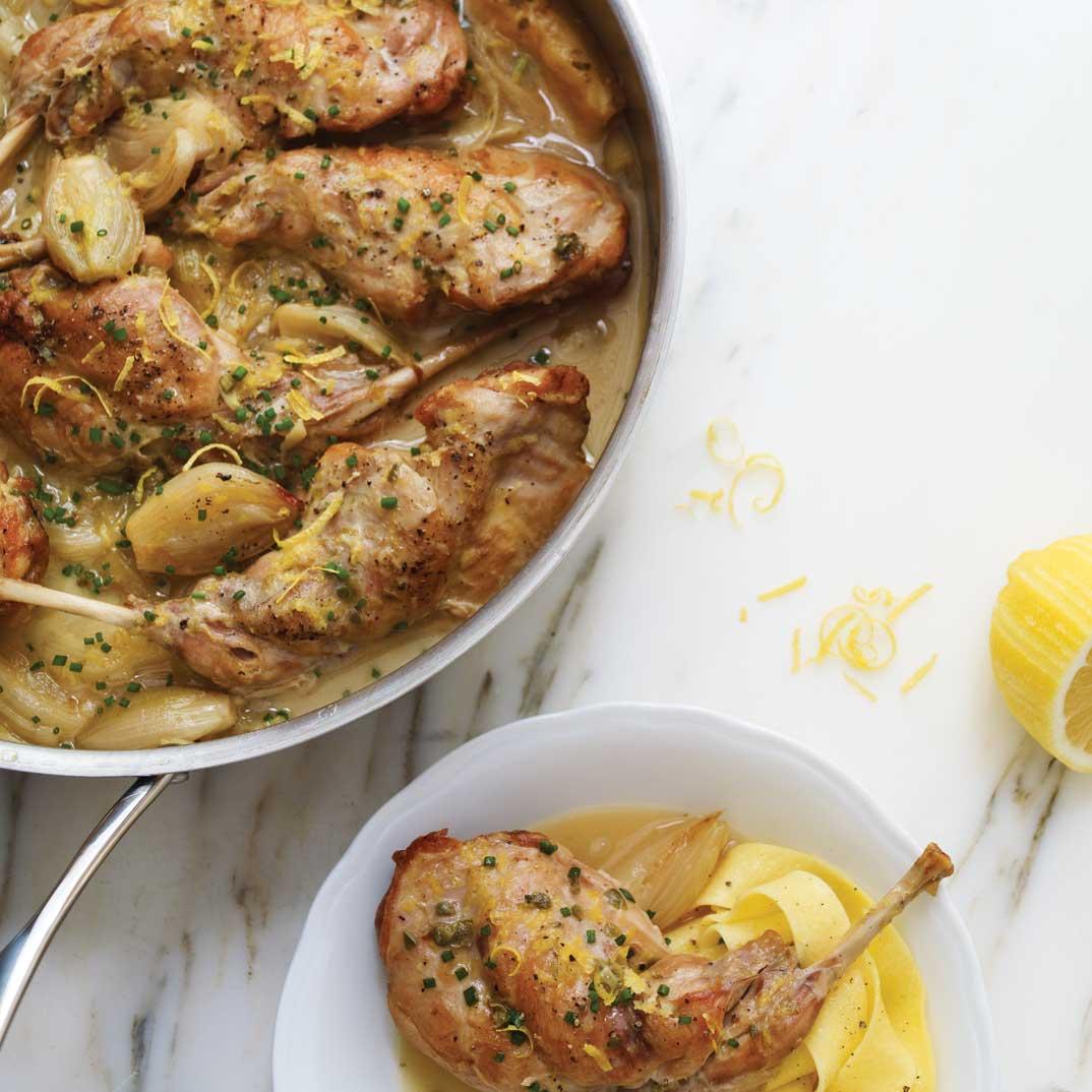 Lemon and Parmesan Rabbit