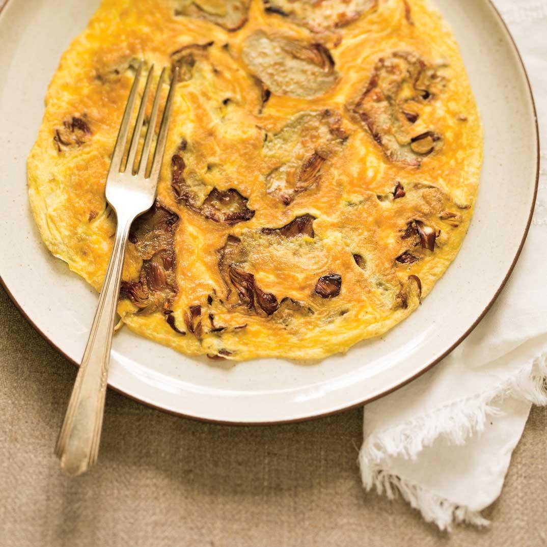 <i>Tortino di carciofi</i> (Omelette aux artichauts)