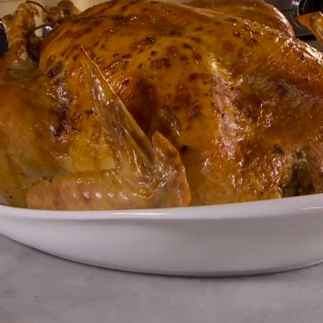 Pear and Cranberry-Stuffed Roasted Turkey