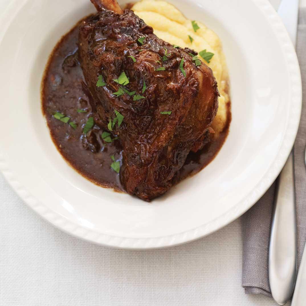 Braised Lamb Shanks with Prunes