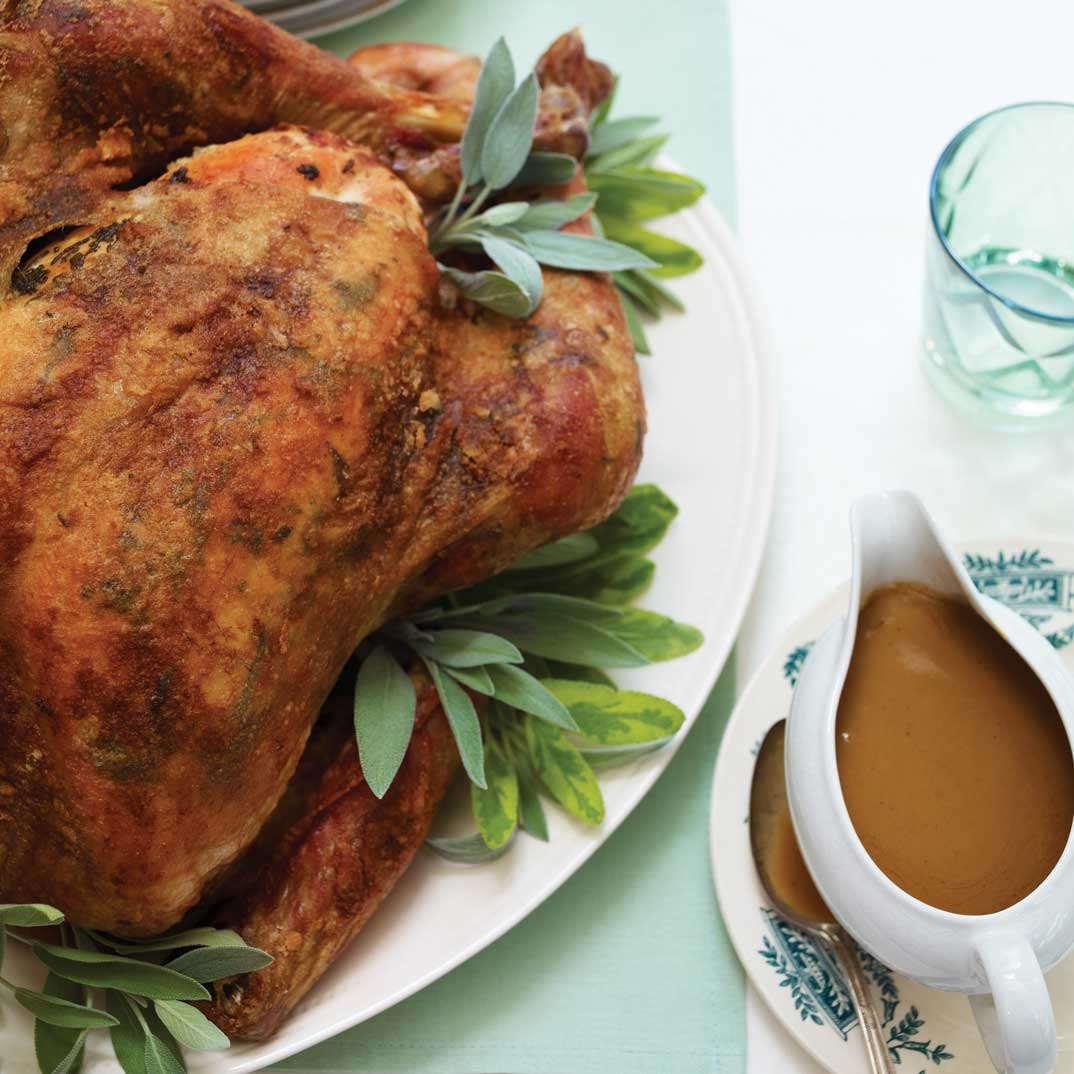 Roasted Turkey with Sage Butter and Marsala Sauce