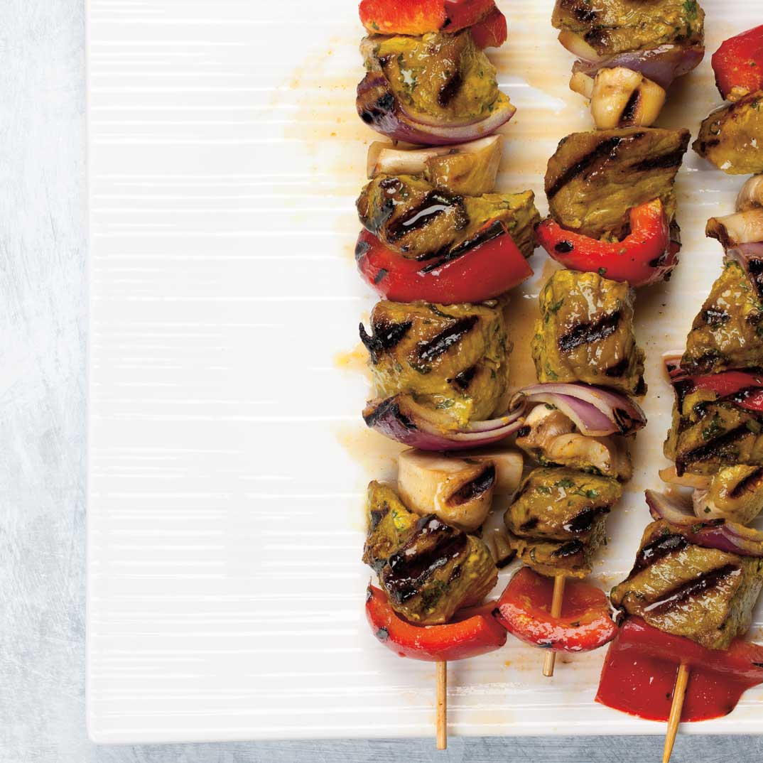 Curried Beef Brochettes
