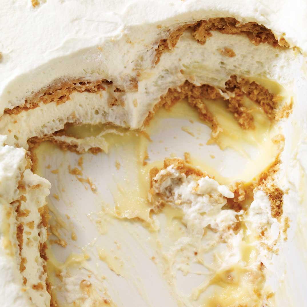 Lemon and Graham Cracker Layered Pudding