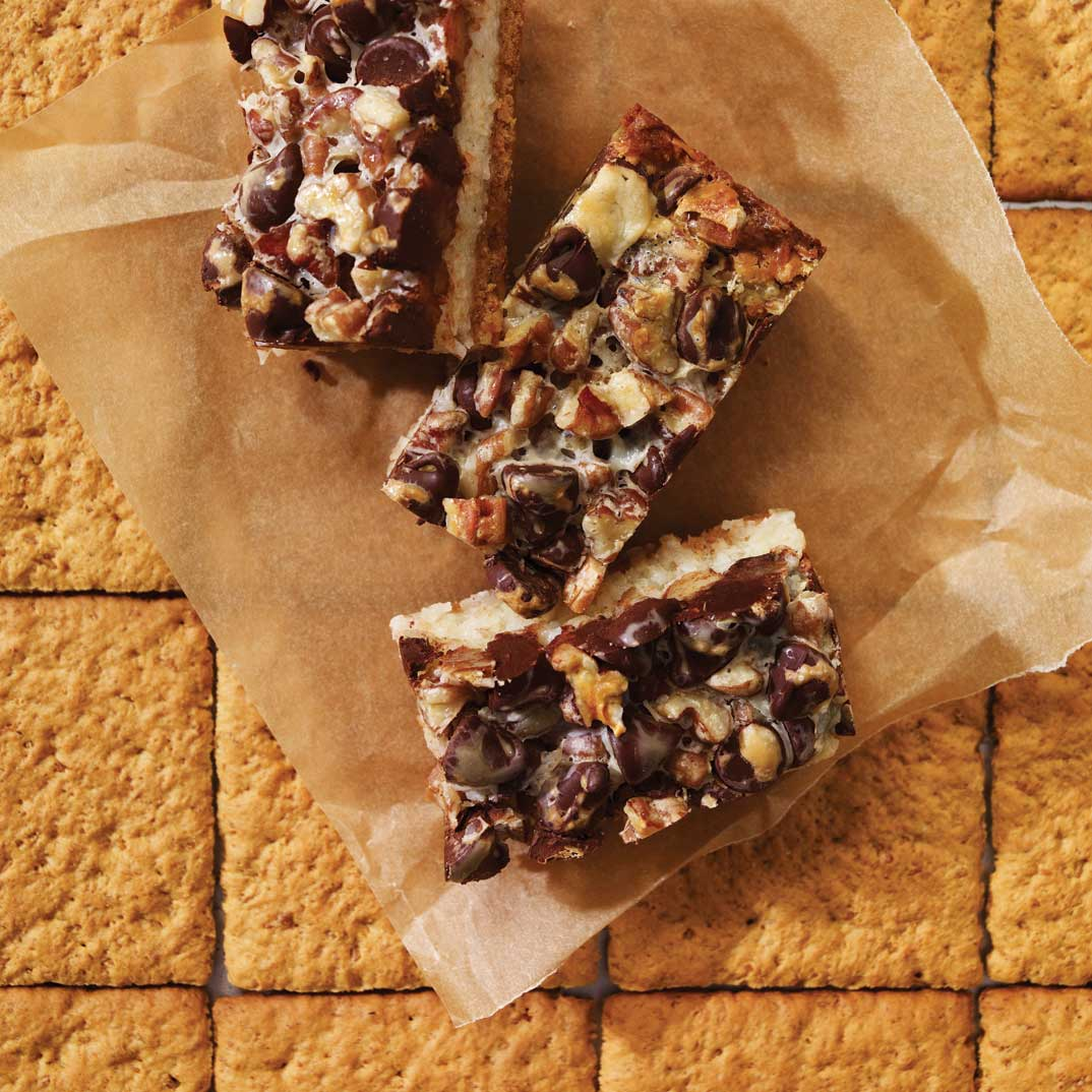 Coconut, Pecan, and Chocolate Bars