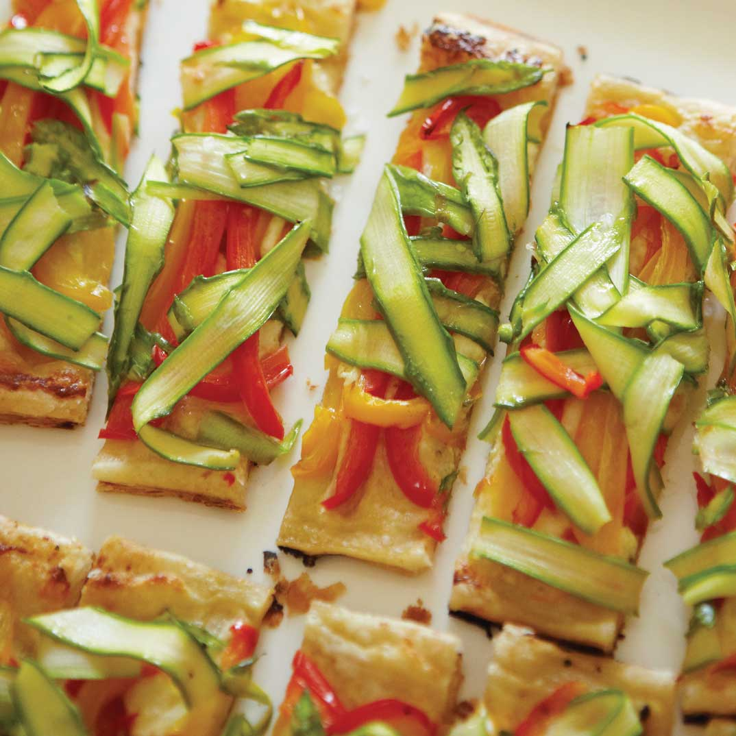 Bell Pepper and Asparagus Tart