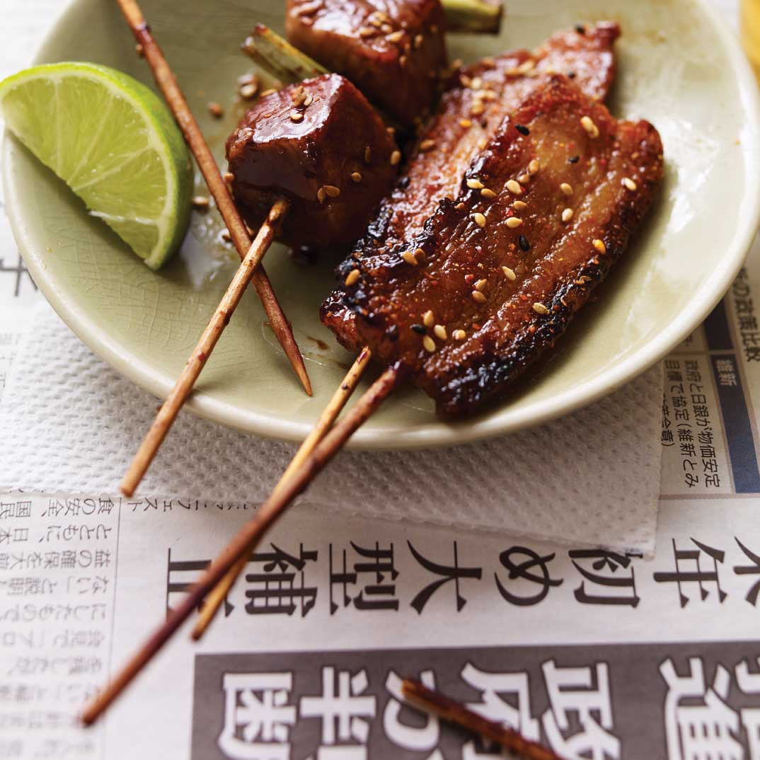 Sauce à laquer japonaise pour brochettes de porc