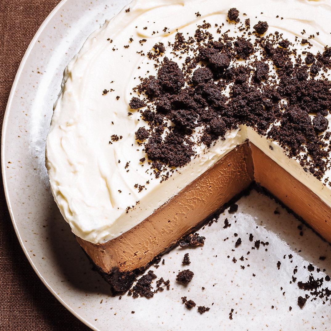 Gâteau au fromage triple chocolat