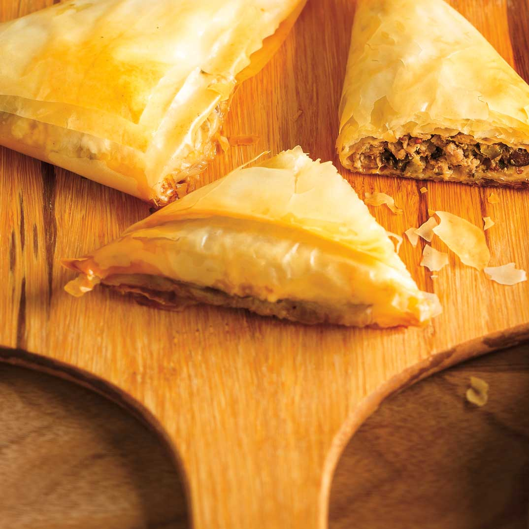 Small Beef and Vegetable Puff Pastries