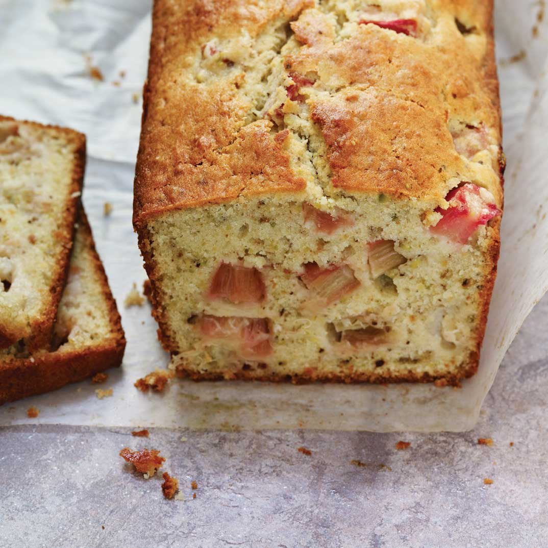 Rhubarb and Pistachio Cake