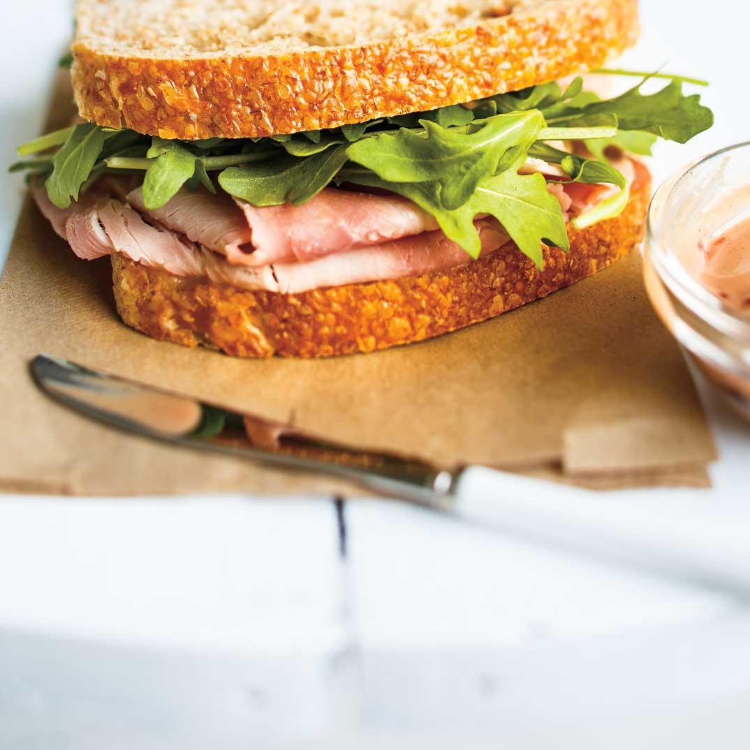 Cherry-Mustard Ham Sandwiches