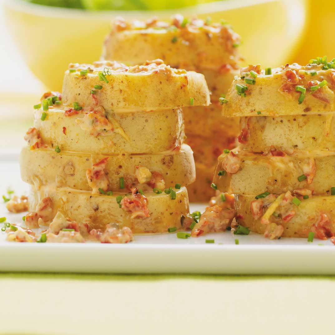 Salade de pommes de terre étagées