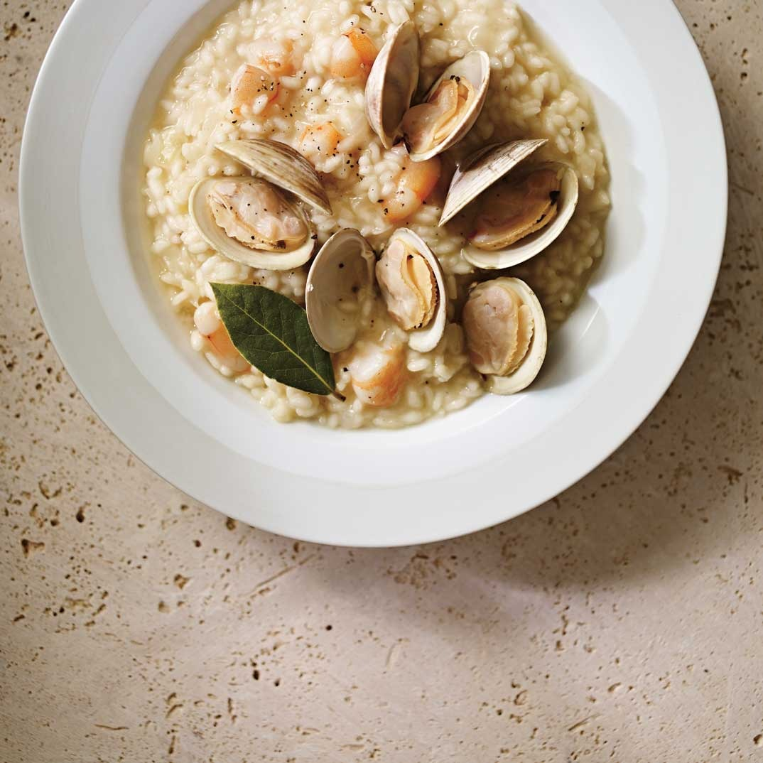 Seafood and Bay Leaf Risotto
