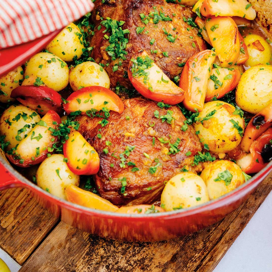 Braised Pork Roast with Apples