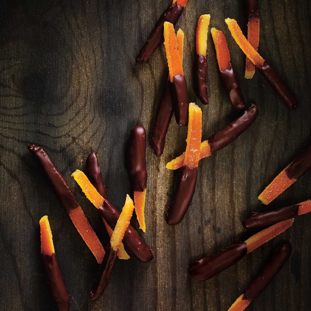 Chocolate-Dipped Candied Orange Peel