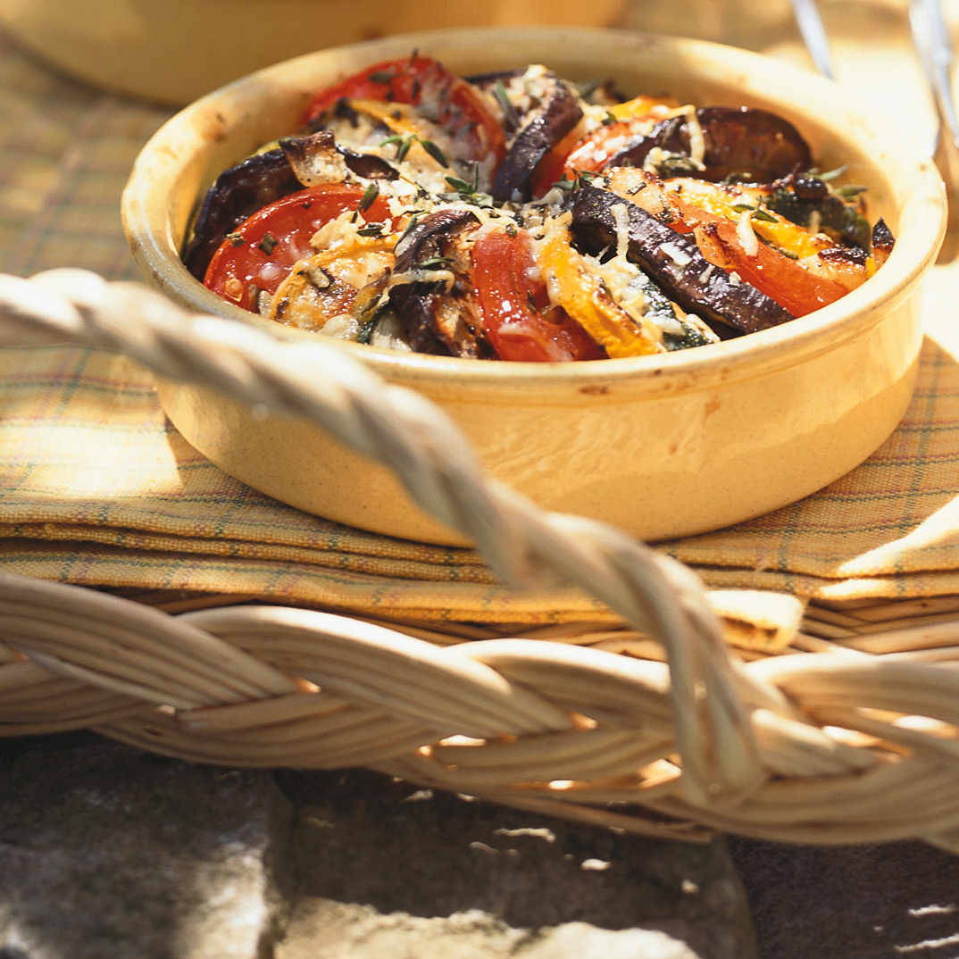 Tomatoes and Grilled Vegetables Tians