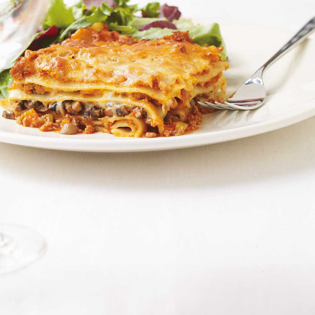 Lasagne bolognaise aux champignons