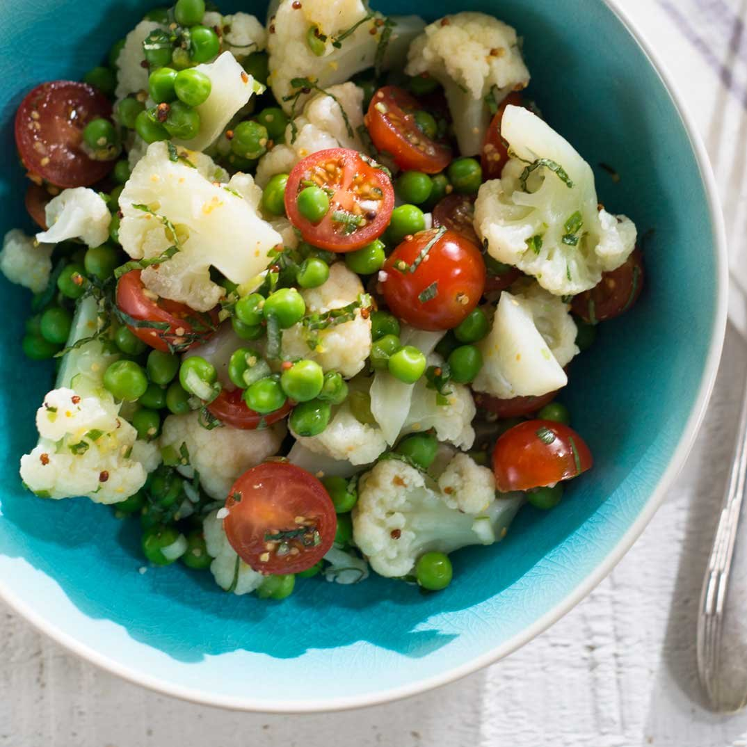 Cauliflower and Pea Salad