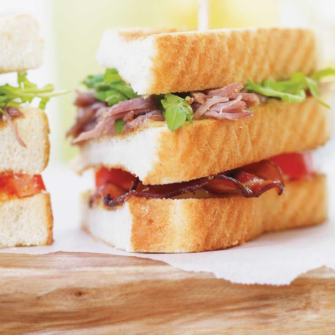 Duck Confit Club Sandwich