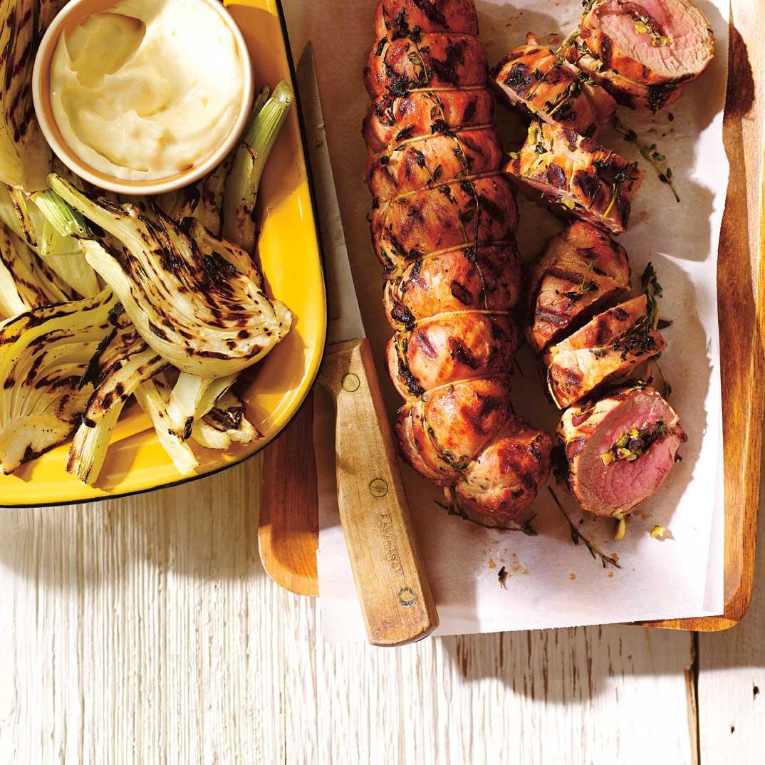 Filets de porc farcis aux olives et au citron confit
