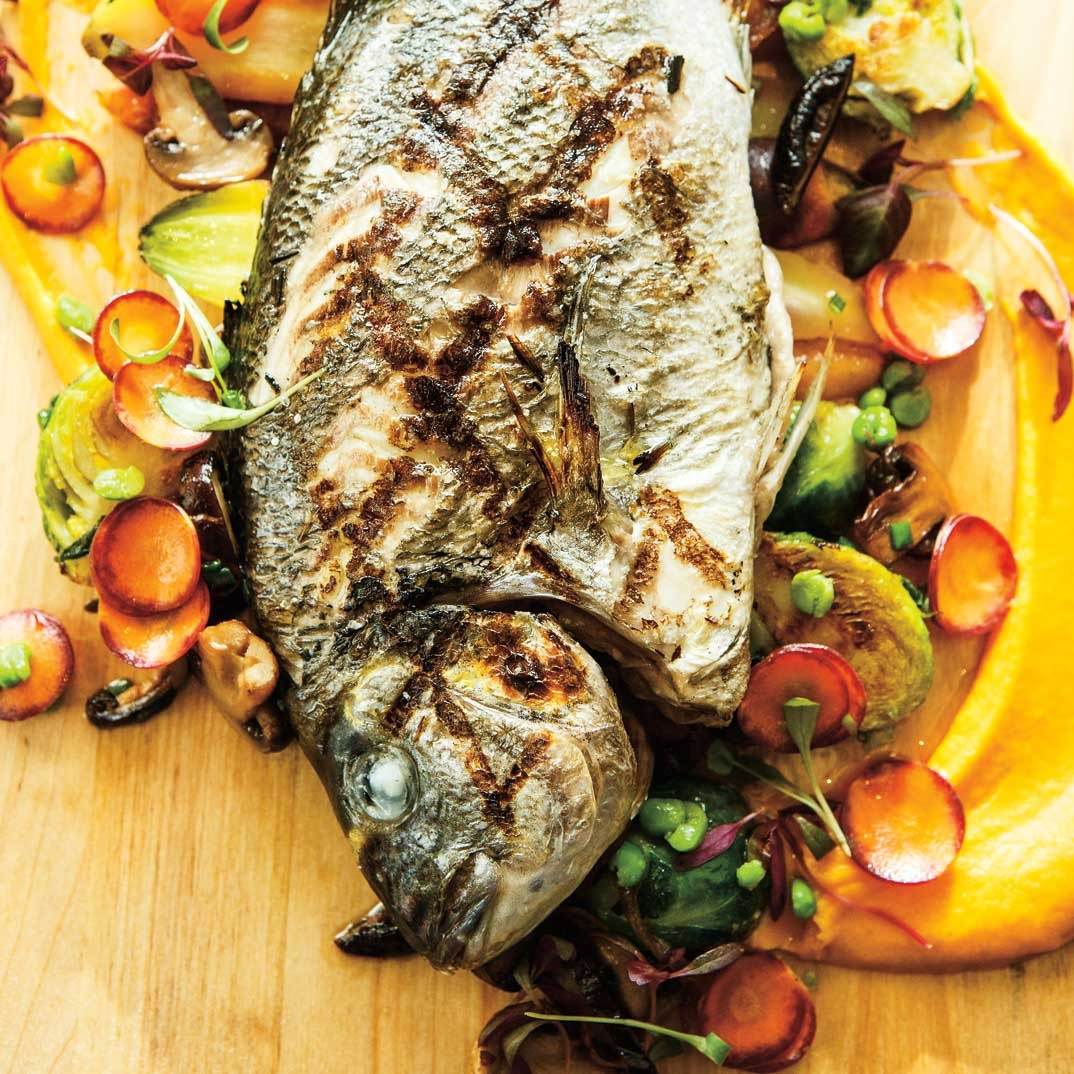 Helena Loureiro's Grilled Seabream with Parsley Sauce