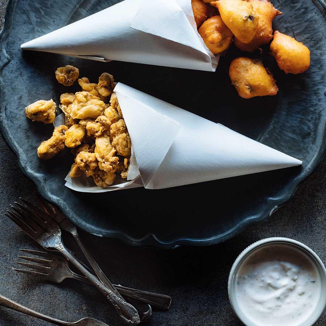 Beignets de maïs aux huîtres