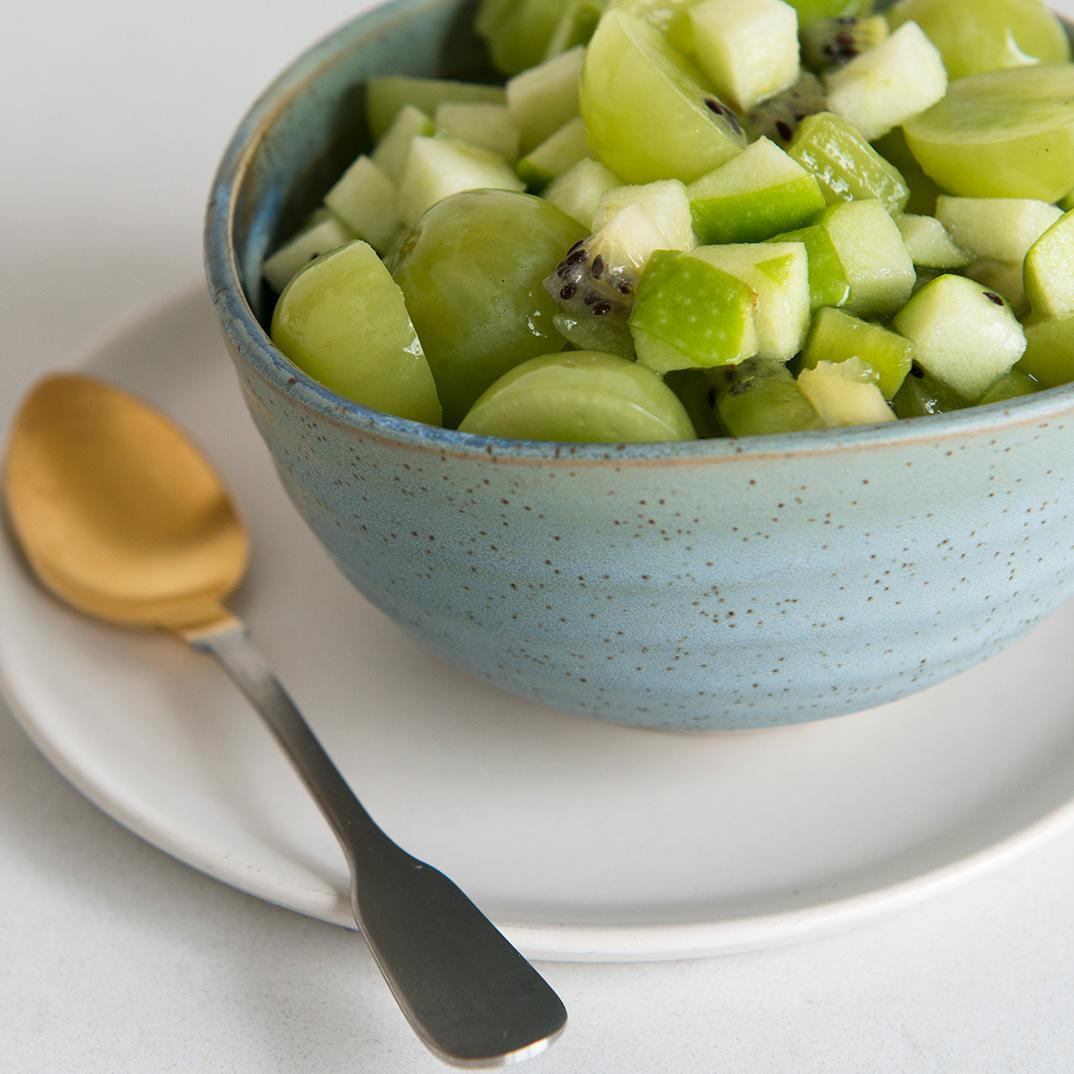 Salade de fruits verte de Noël