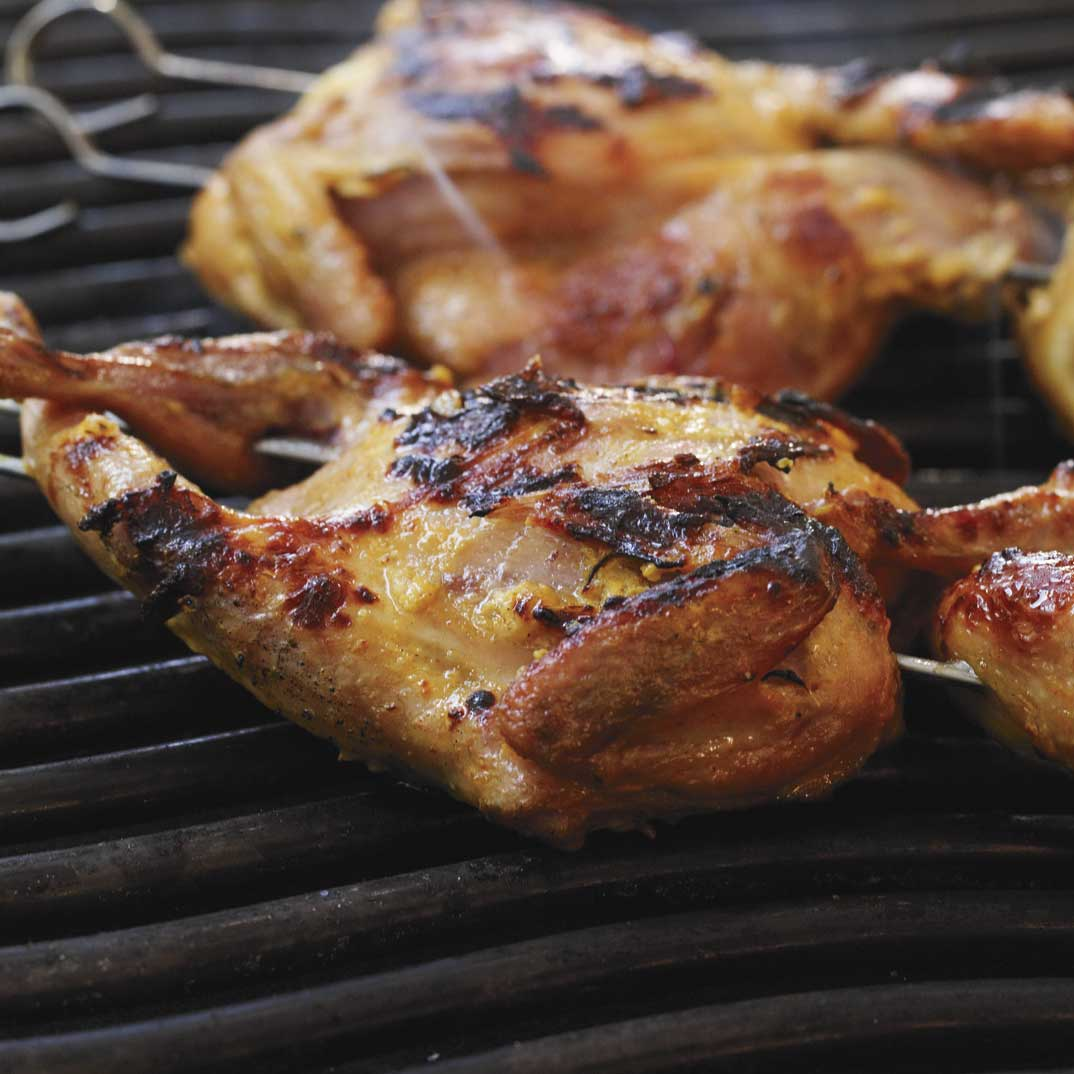 Grilled Curried Quail