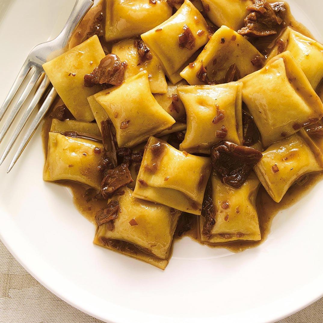 Squash Agnolotti Pasta with Porcini Sauce