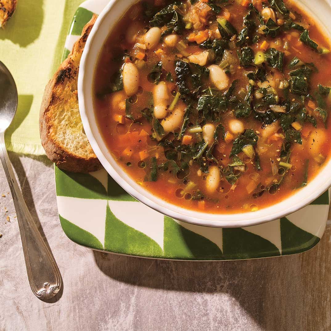 Tuscan Kale and White Bean Minestrone