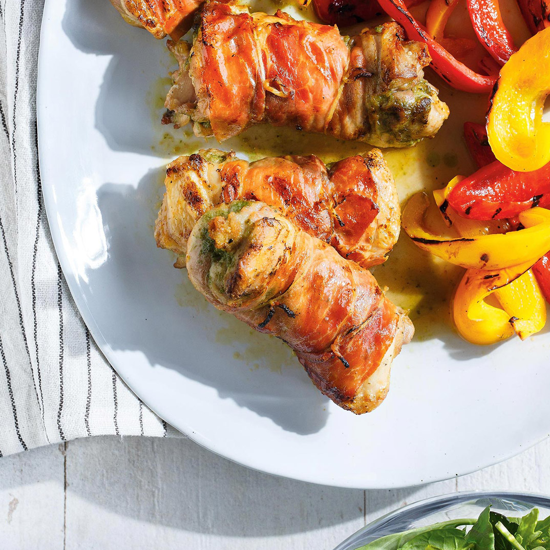 Prosciutto-Wrapped Parmesan Chicken