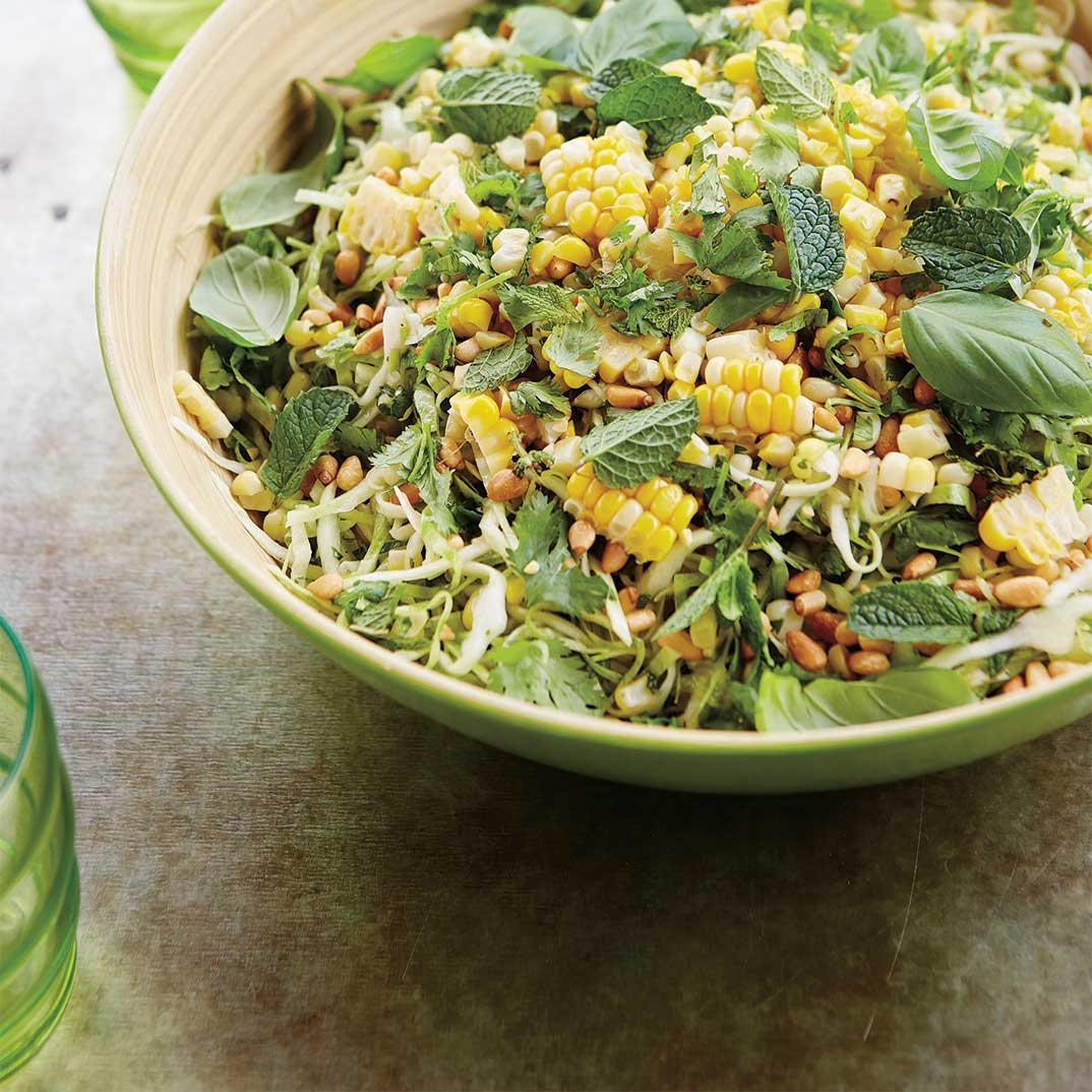 Coleslaw with Corn and Herbs