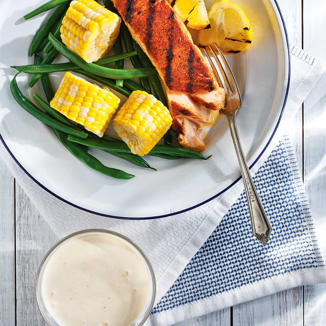 Cajun Spice Salmon and Vegetables