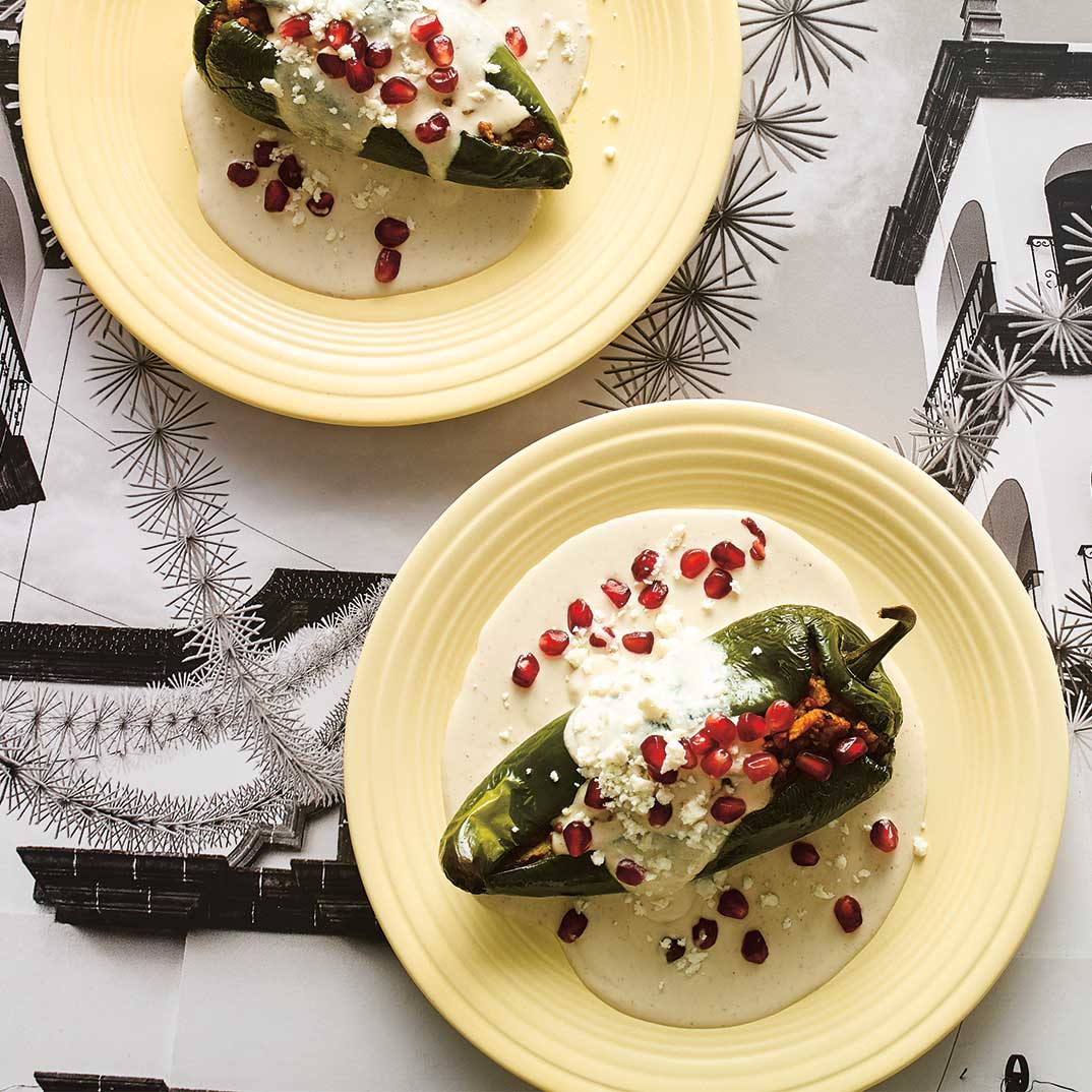 <i>Chiles en Nogada</i>  (Stuffed Peppers with Walnut Sauce)
