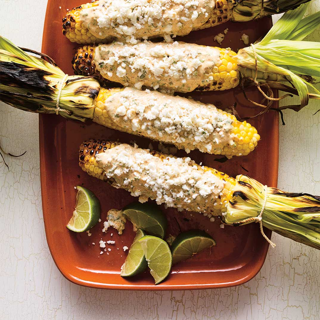 <i>Elotes a la Parrilla</i>  (Grilled Corn on the Cob)