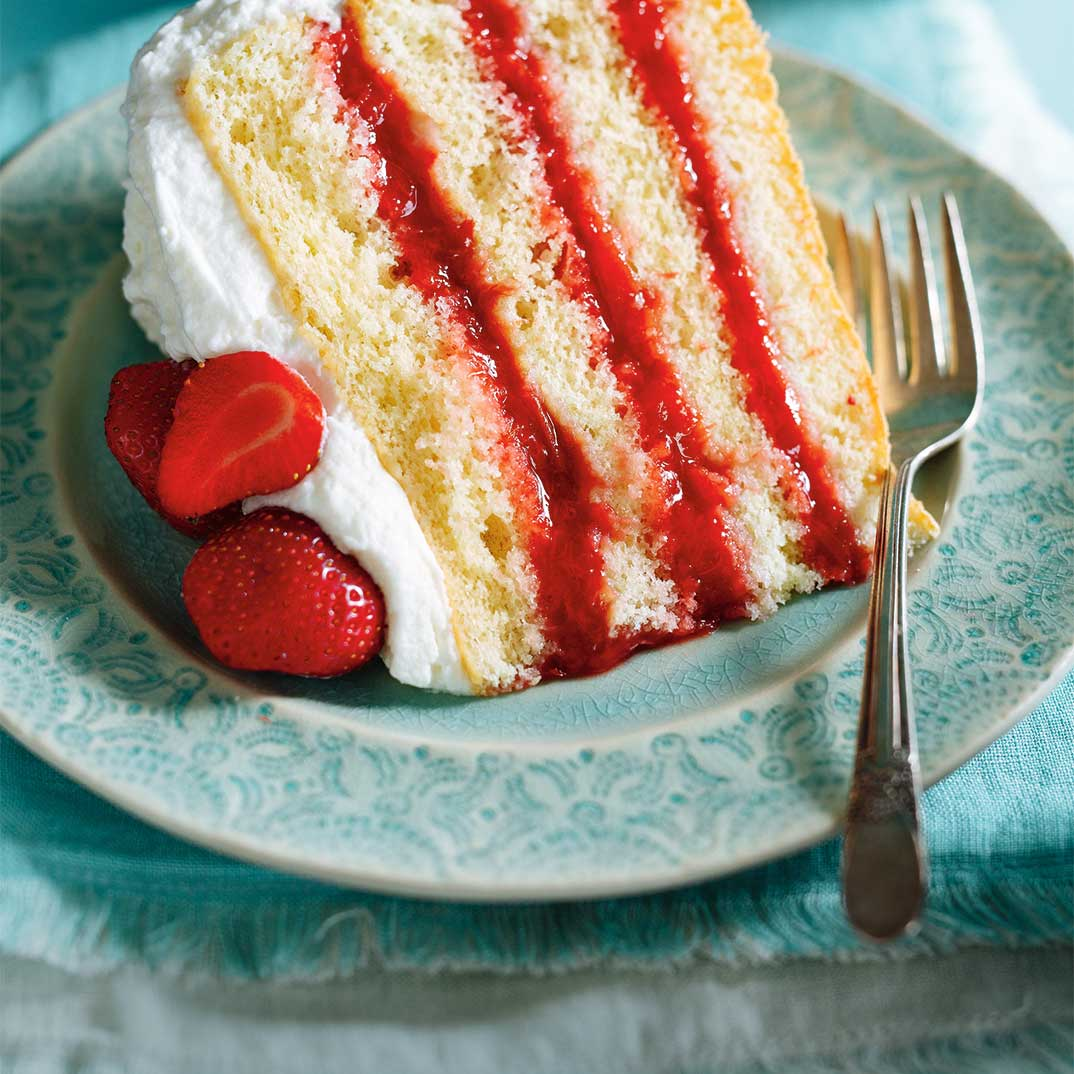 Strawberry Rhubarb Layer Cake Ricardo