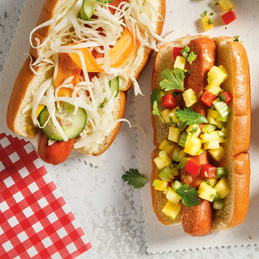 Hot-dogs à la salade de chou
