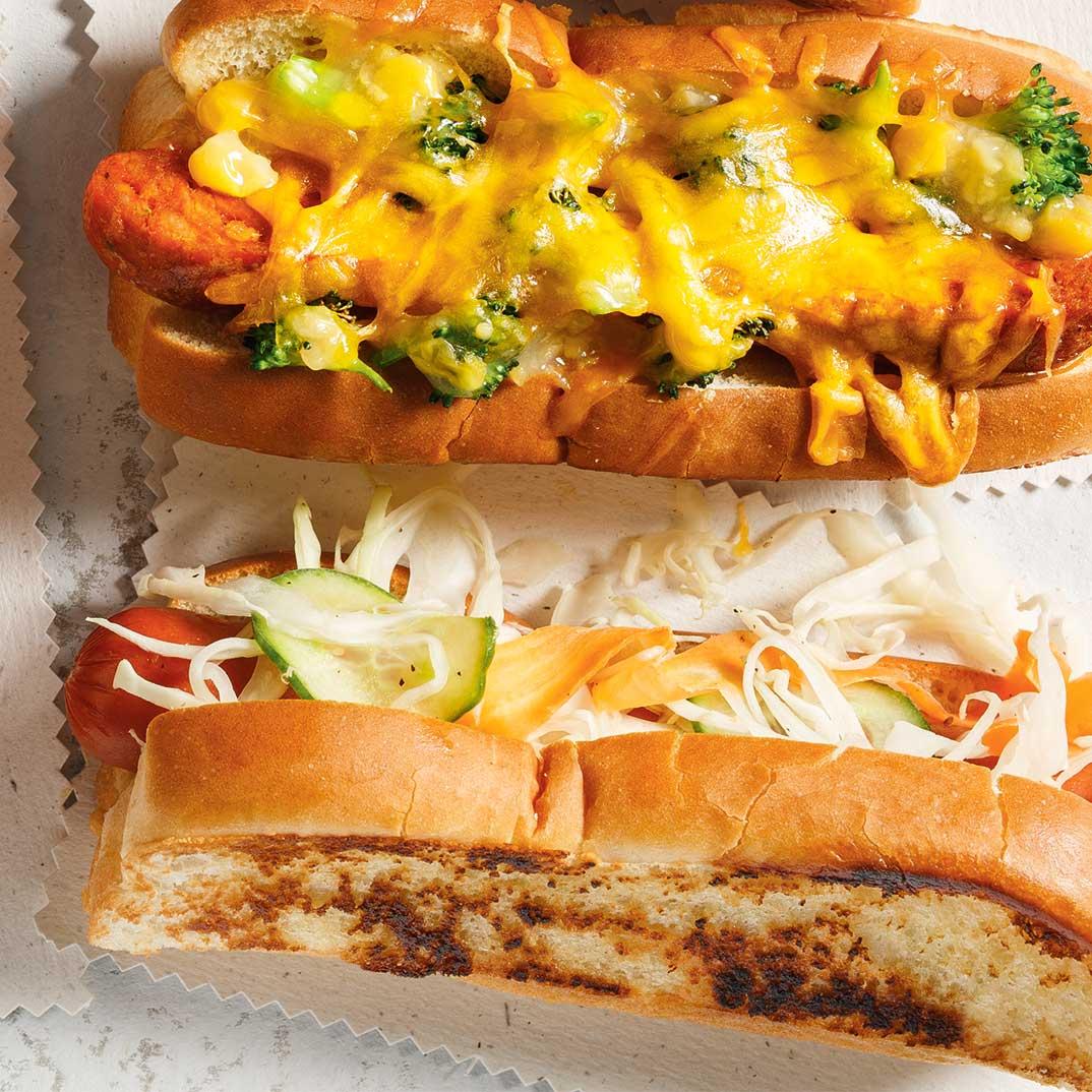 Hot-dogs au brocoli et au fromage
