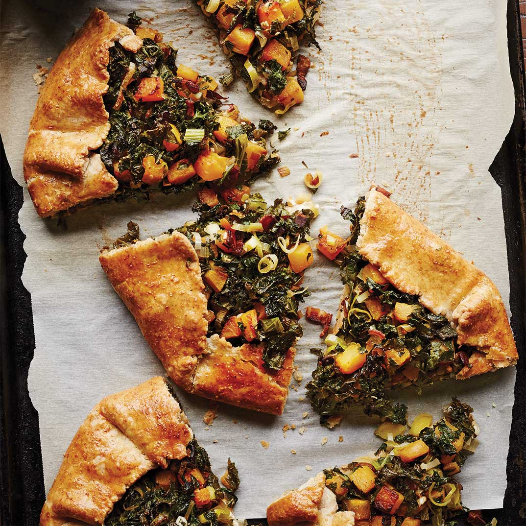 Rustic Kale and Squash Pie