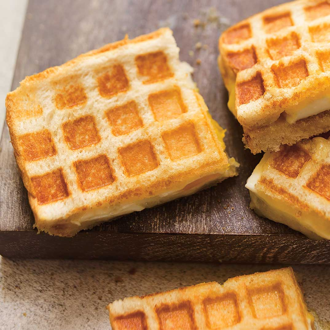 «<i>Grilled cheese</i>» comme une gaufre