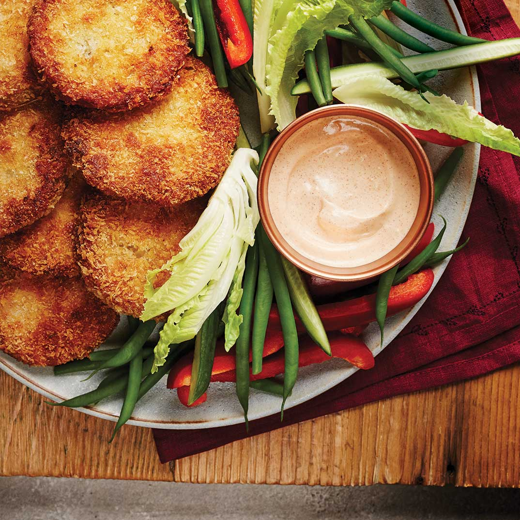 Fried Green Tomatoes With Paprika Dip